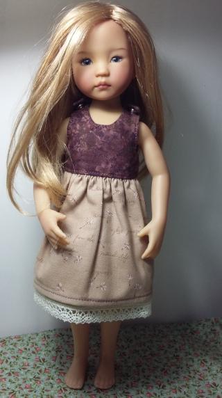 robe avec jupe doublée