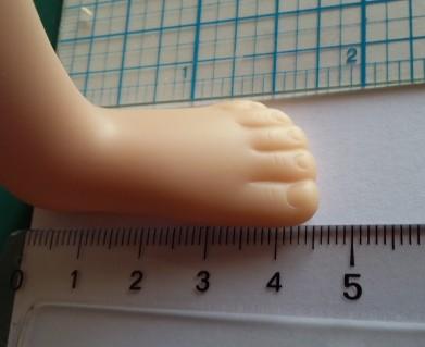 Elisa, longueur du pied