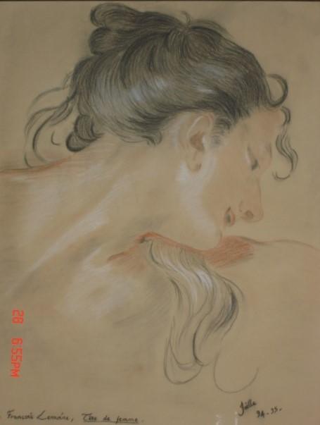 tete-de-femme-dapres-lemoine-1994-95